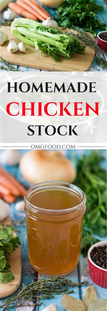 Homemade Chicken Stock | omgfood.com
