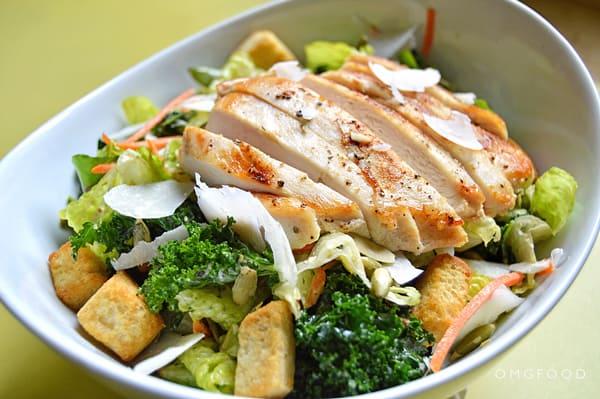 Chicken Kale Caesar Salad