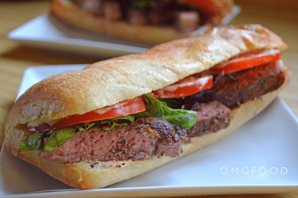 Steak Sandwich w/ Lemon Basil Mayo