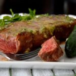Seared Steak with Jalapeno Lime Butter