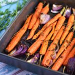 Garlic Roasted Carrots and Onions