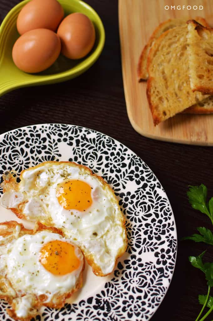 Crispy Fried Eggs