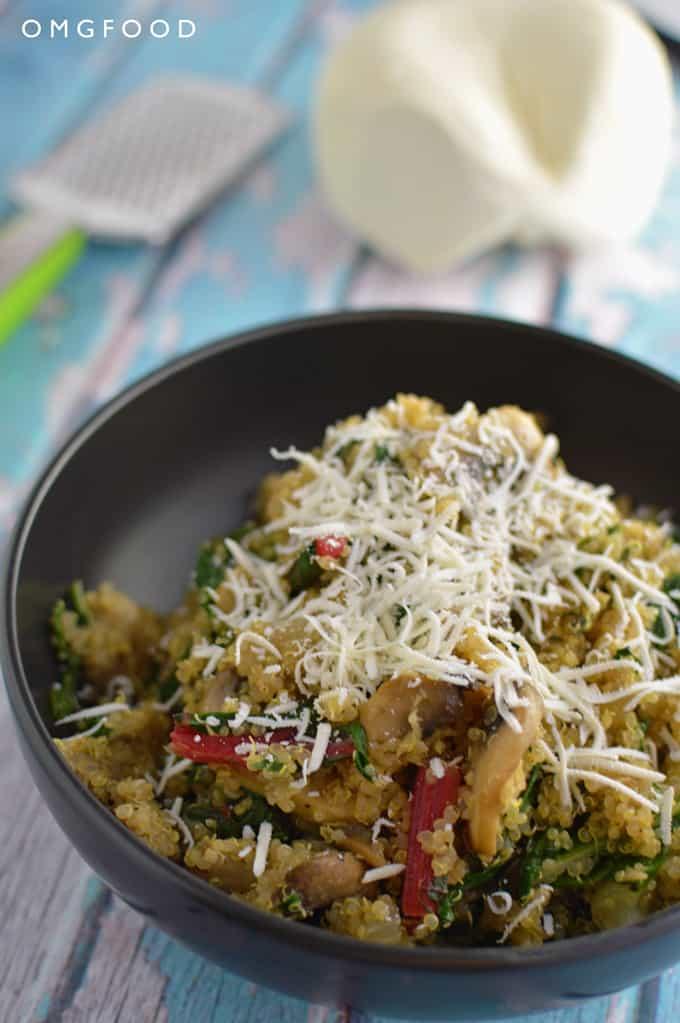 Swiss Chard and Mushroom Quinoa | OMGFOOD