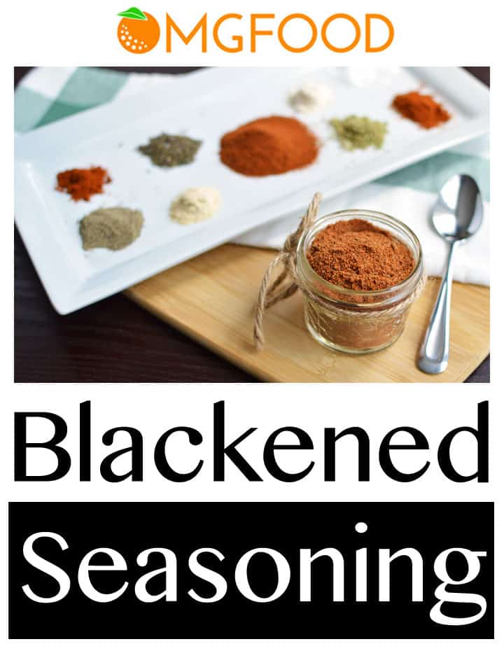 This homemade blackened seasoning blend goes great on fish, shrimp, chicken, and more! | omgfood.com