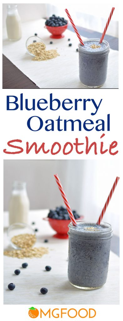 Blueberry Oatmeal Smoothie - This smoothie is filling, delicious, and healthy! | omgfood.com