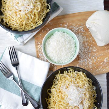 Spaghetti with Browned Butter and Mizithra Cheese