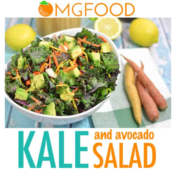 Kale and Avocado Salad: A simple salad packed with flavor! Massaging the kale gives it a sweet and silky texture. | omgfood.com