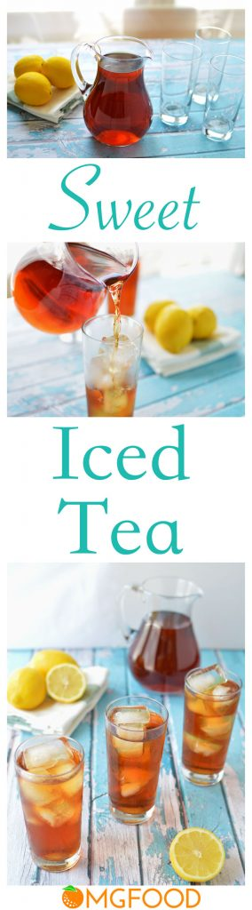 Sweet Iced Tea - Simply brewed tea with just the right amount of sweetness. | omgfood.com