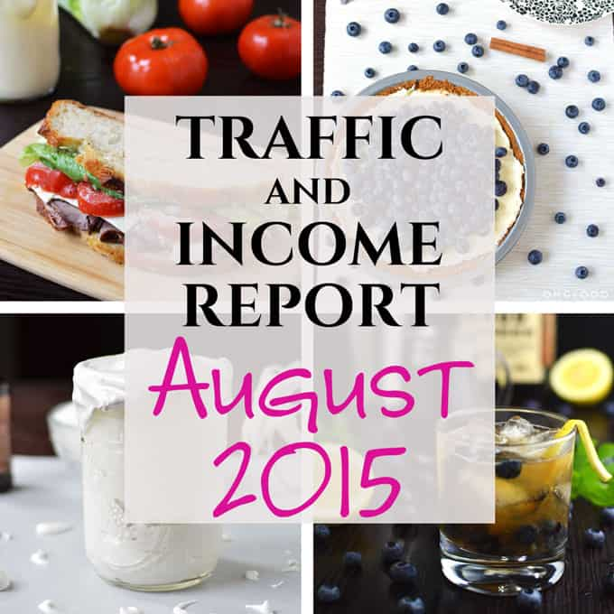 Traffic and Income Report - August 2015