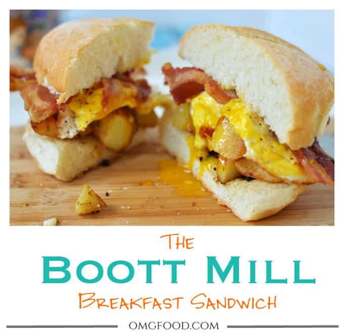 The Boott Mill Breakfast Sandwich - A copycat recipe of the best breakfast sandwich from Arthur's Diner.   omgfood.com