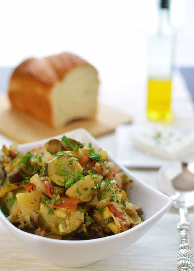 Tourlou Tourlou - Mixed vegetables roasted in the oven long enough to bring out the vegetables' natural sweetness!