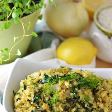 Spanakorizo (Spinach and Rice)