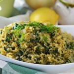 Spanakorizo (Spinach and Rice)