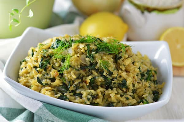 Spanakorizo (Spinach and Rice) & Giveaway!