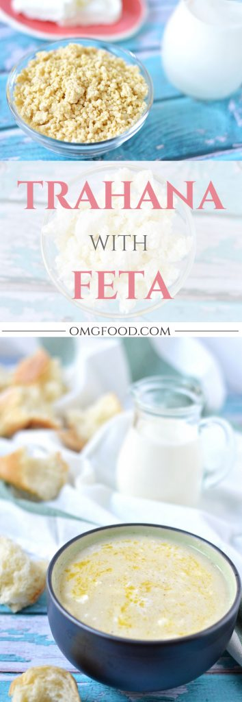Trahana with Feta - A tasty and comforting soup that's a favorite in many homes around Greece. | omgfood.com