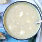 Trahanosoupa (Trahana Soup with Feta)