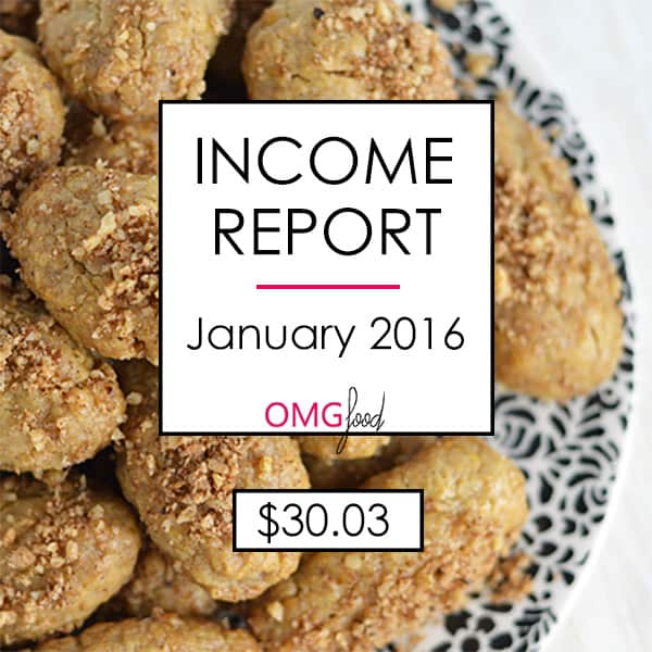 Traffic and Income Report - January 2016 | omgfood.com