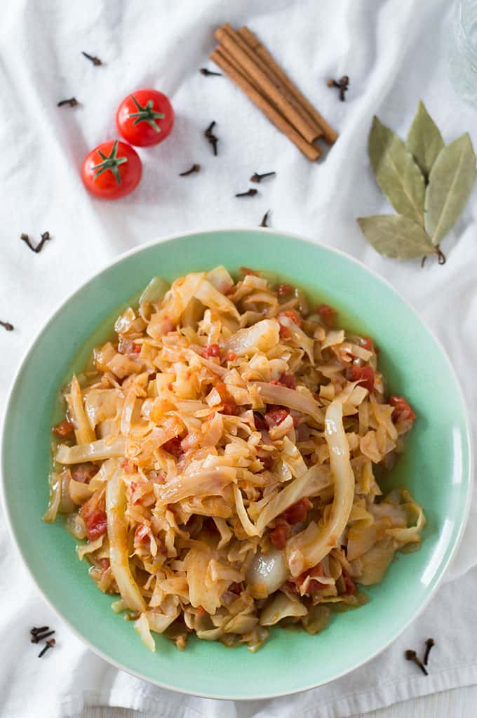 Spicy Shredded Cabbage | omgfood.com