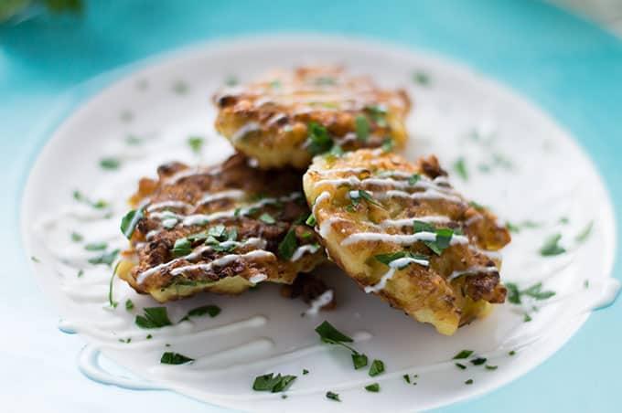 Cauliflower Fritters   omgfood.com