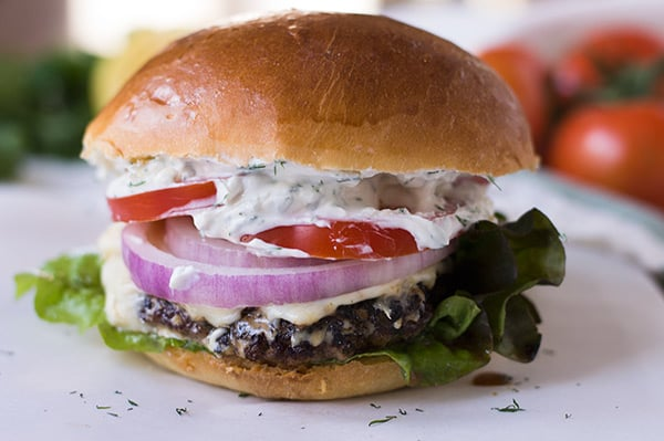 Lamb Burgers With Kasseri Cheese