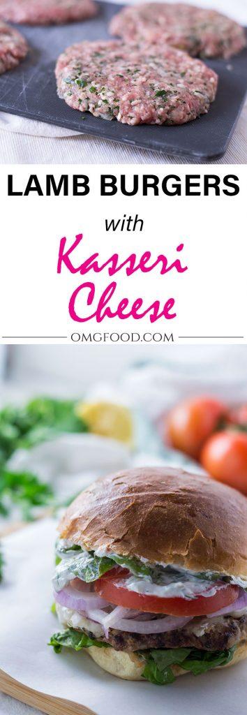 Lamb Burgers With Kasseri Cheese | omgfood.com