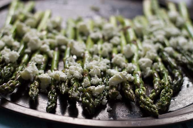 Roasted Asparagus with Feta | omgfood.com