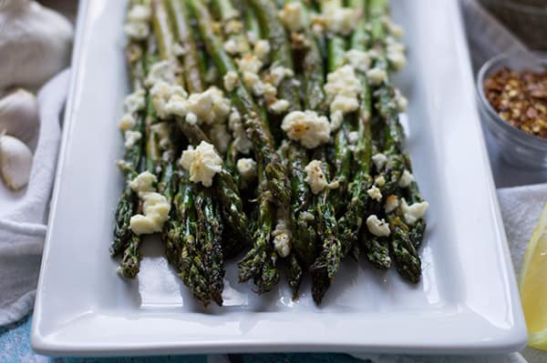 Roasted Asparagus with Feta | omgfood.com