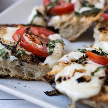 Open-Faced Grilled Caprese Sandwich   omgfood.com
