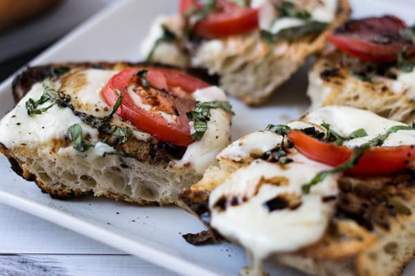 Open-Faced Grilled Caprese Sandwich | omgfood.com