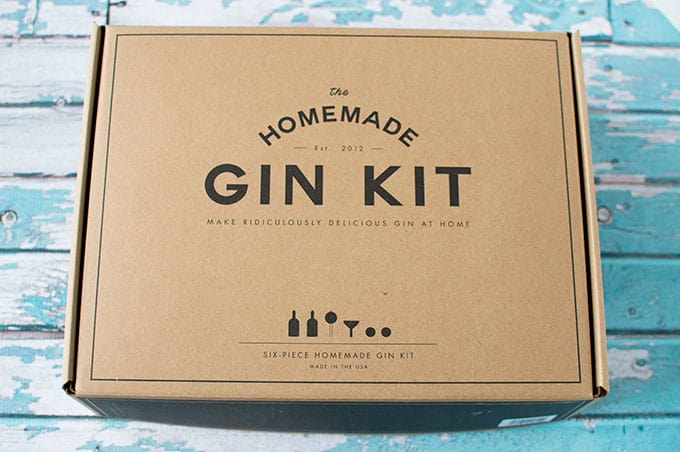 A box cover for a homemade gin kit.