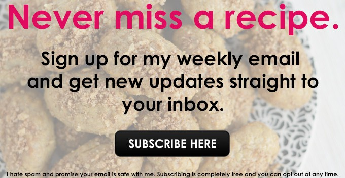 Never miss a recipe. Sign up for my weekly email and get new updates straight to your inbox. | omgfood.com