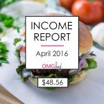 Traffic and Income Report - April 2016