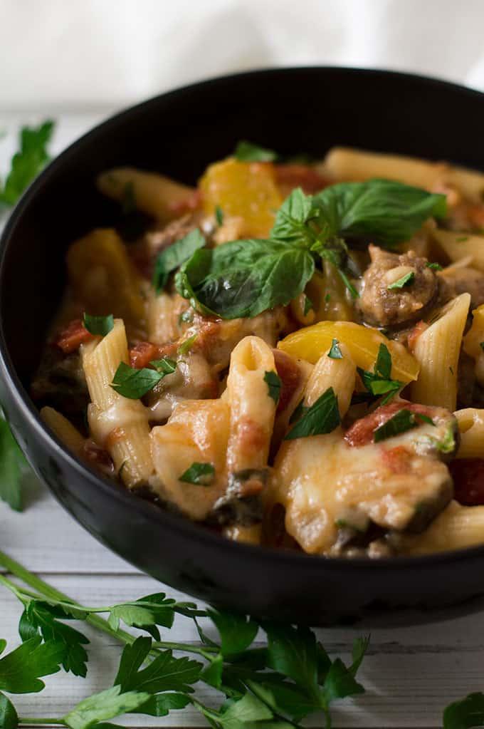 One-Pot Creamy Sausage and Pasta | omgfood.com