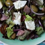 Buffalo Mozzarella and Salami Salad