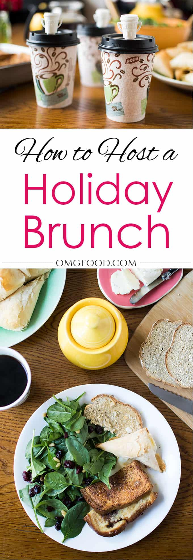 How to Host a Holiday Brunch: Keep it easy and hassle-free with @DixieProducts! #CupForCrushingIt #sponsored | omgfood.com