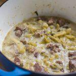 Hoirino me Selino Avgolemono (Pork and Celery Stew with Egg-Lemon Sauce)   omgfood.com