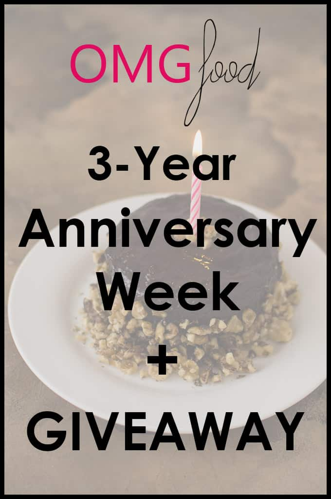 OMGfood 3-Year Anniversary Week + Giveaway | omgfood.com