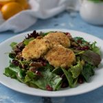 Fried Goat Cheese Salad with Pomegranates and Walnuts