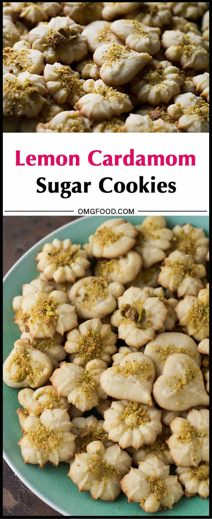 Lemon Cardamom Sugar Cookies | omgfood.com