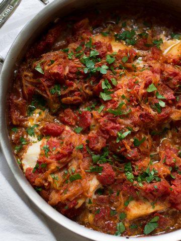 Psari Plaki (Greek-Style Baked Fish)   omgfood.com
