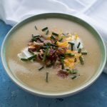 Loaded Baked Potato and Cauliflower Soup