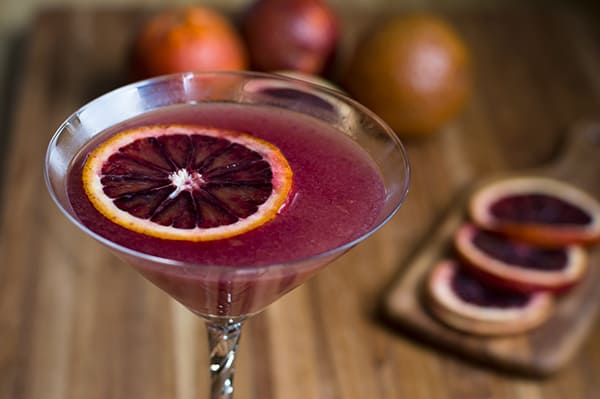 Blood Orange Ginger Martini | omgfood.com