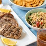 Simply Grilled Pork Chops & Outdoor Dining Tips