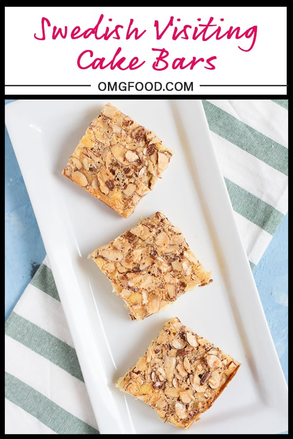 Dorie Greenspan's Swedish Visiting Cake Bars | omgfood.comDorie Greenspan's Swedish Visiting Cake Bars | omgfood.com #sponsored #OXOBetter #oxogoodcookies