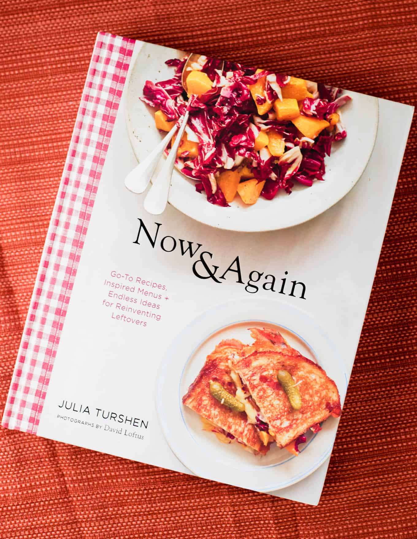 A cookbook on a table.