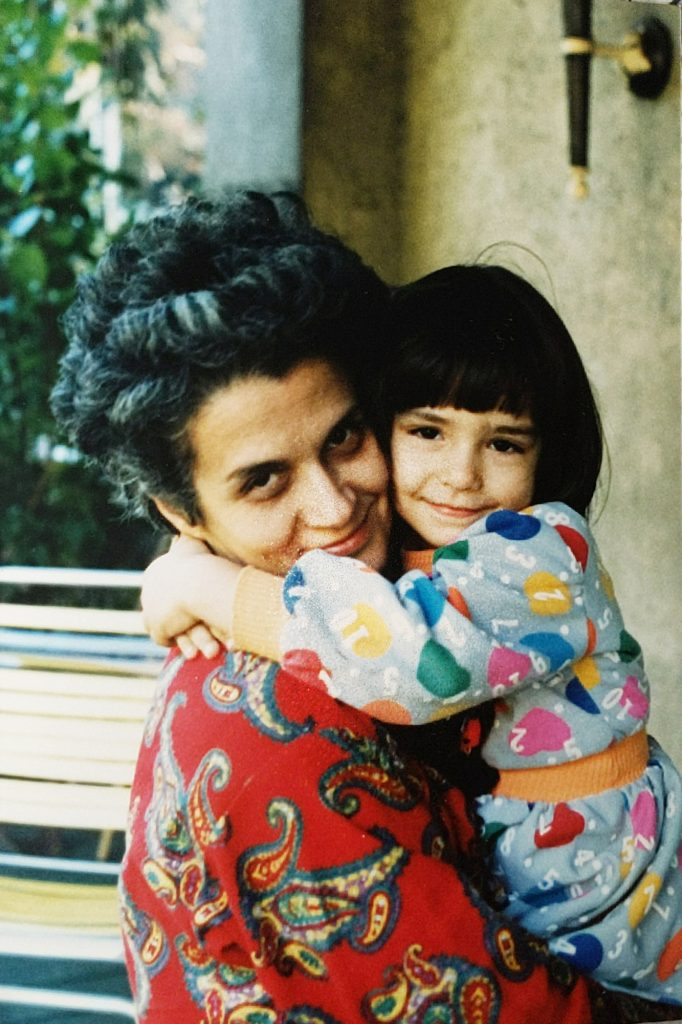 Me hugging my mom when I was a young child. | omgfood.com